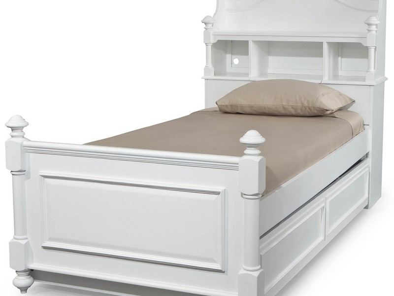 White Twin Bed Trundle
