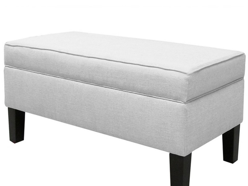 White Upholstered Bench