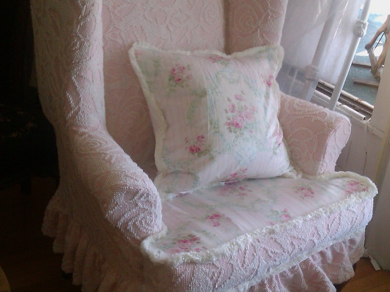 White Wingback Chair Slipcover