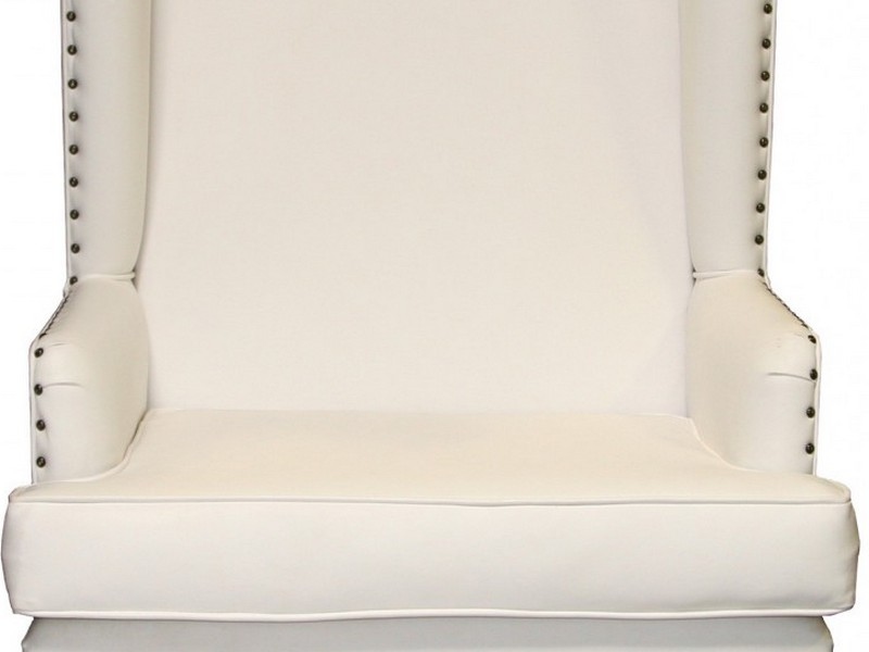 White Wingback Dining Chair