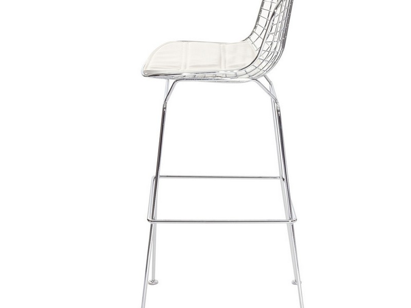White Wire Bar Stools
