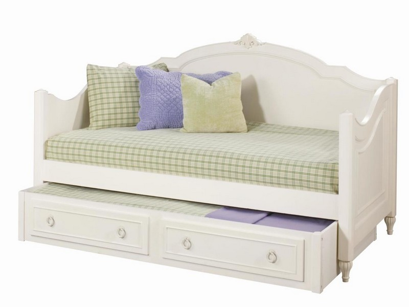 White Wooden Daybed With Trundle Uk