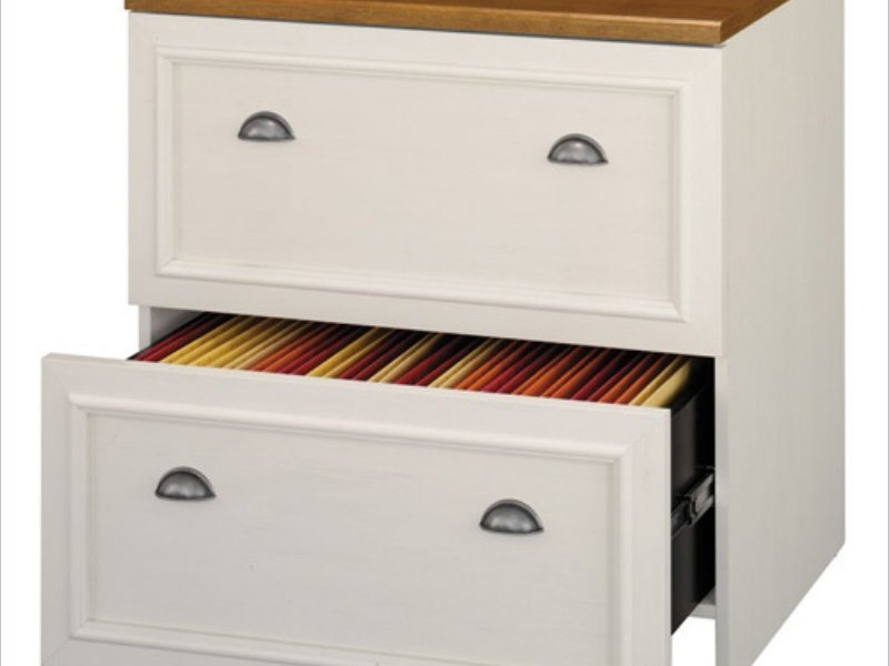 White Wooden Filing Cabinets