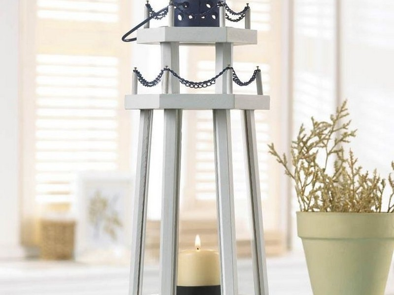 White Wooden Lanterns For Weddings