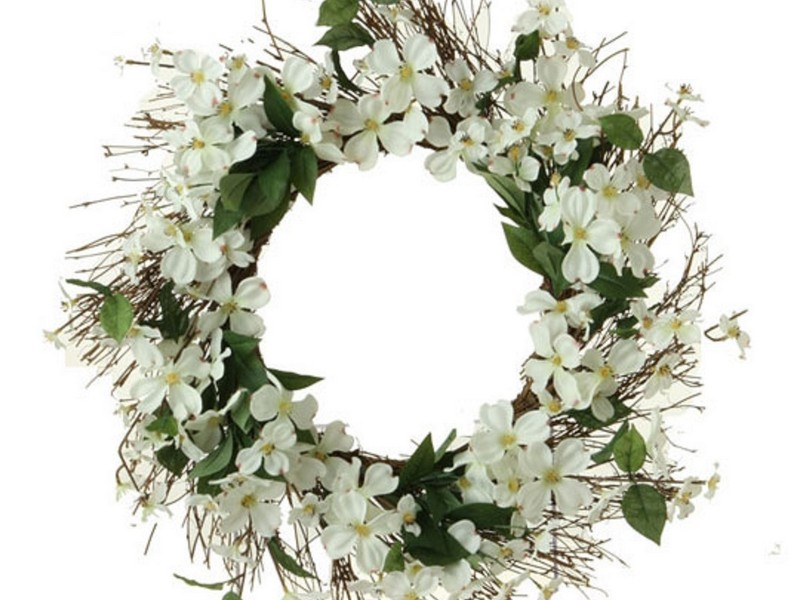 White Wreaths For Doors