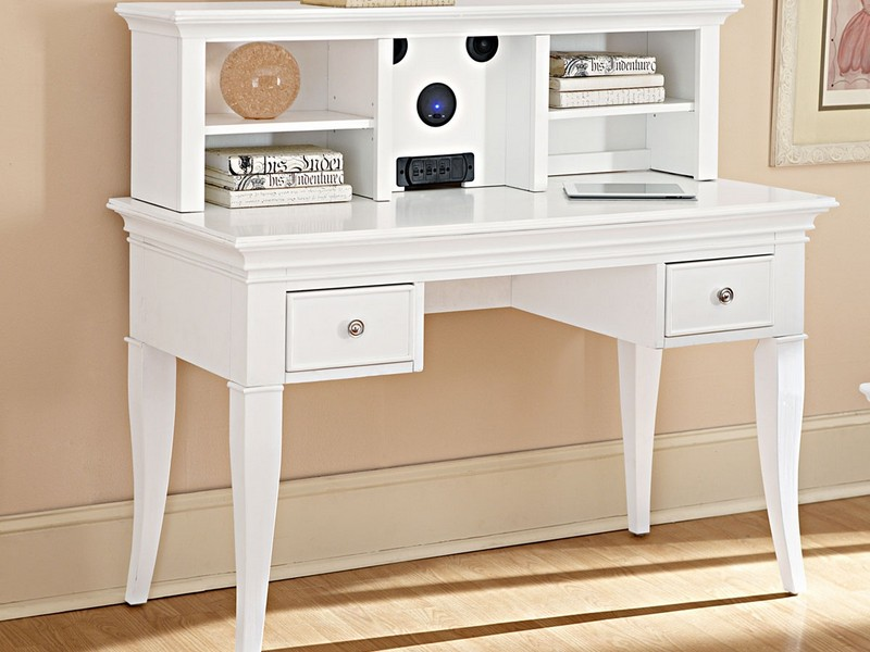 White Writing Desk With Hutch