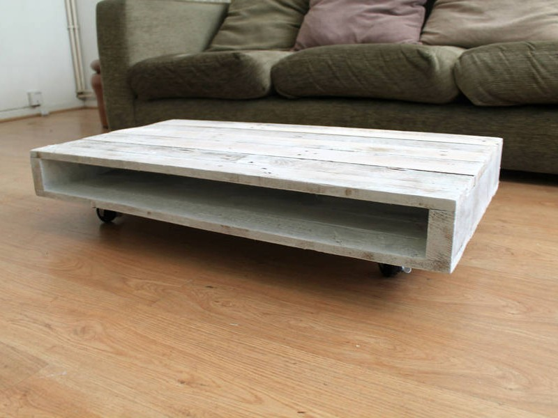 Whitewash Pallet Coffee Table