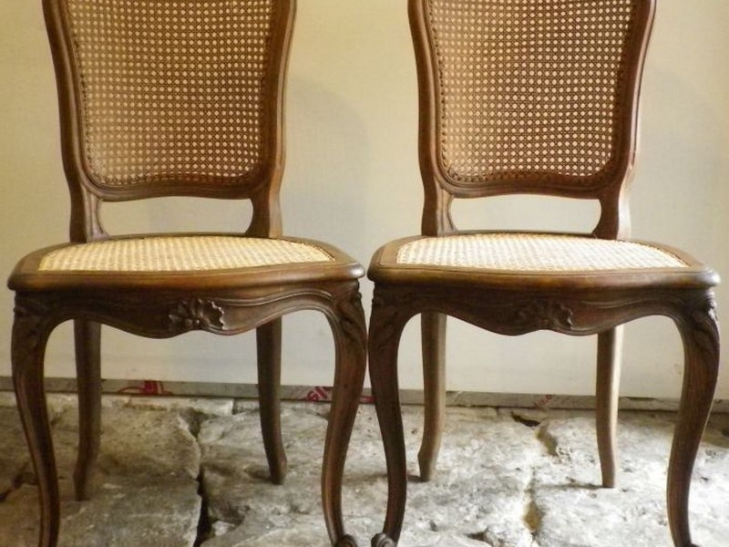 Wicker Back Dining Room Chairs