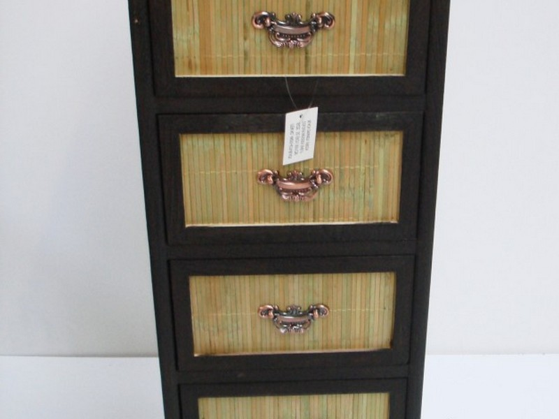 Wicker Bathroom Cabinet