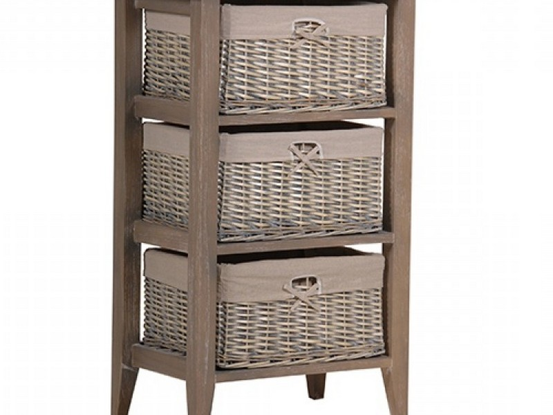 Wicker Bathroom Cabinets Storage