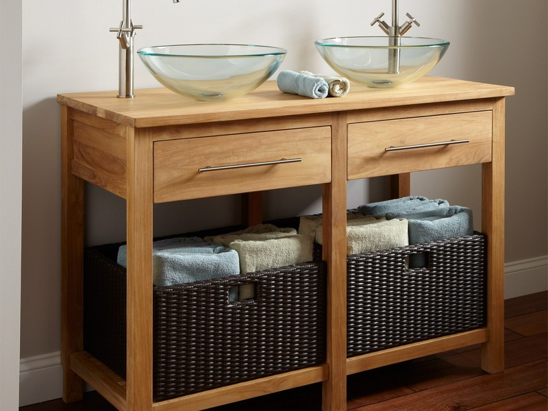 Wicker Bathroom Furniture Storage