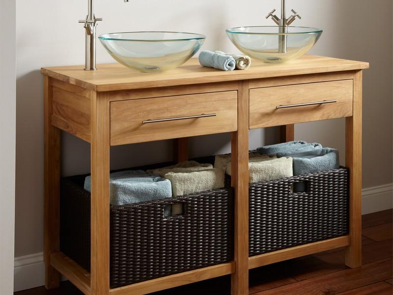 Wicker Bathroom Furniture Storage