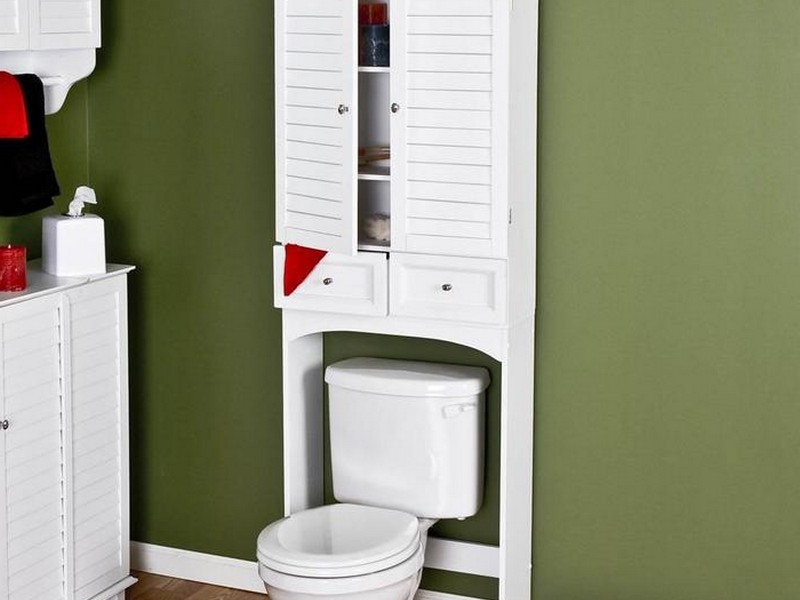 Wicker Bathroom Space Saver Over Toilet