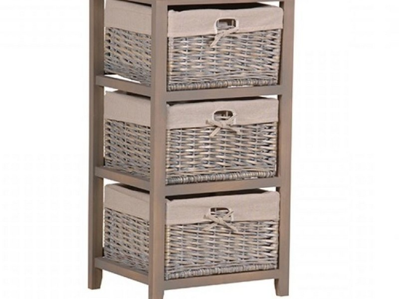 Wicker Bathroom Storage Cabinets