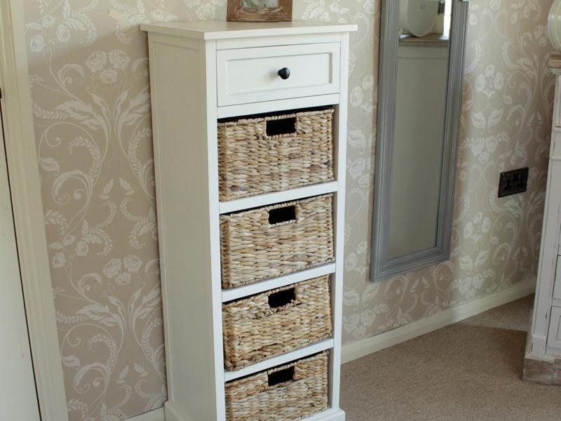 Wicker Bathroom Storage Units