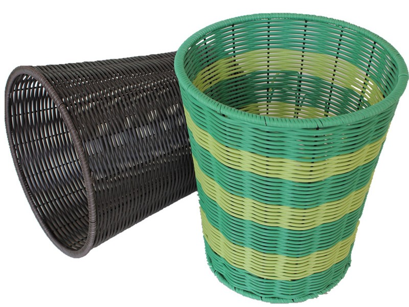 Wicker Bathroom Trash Cans