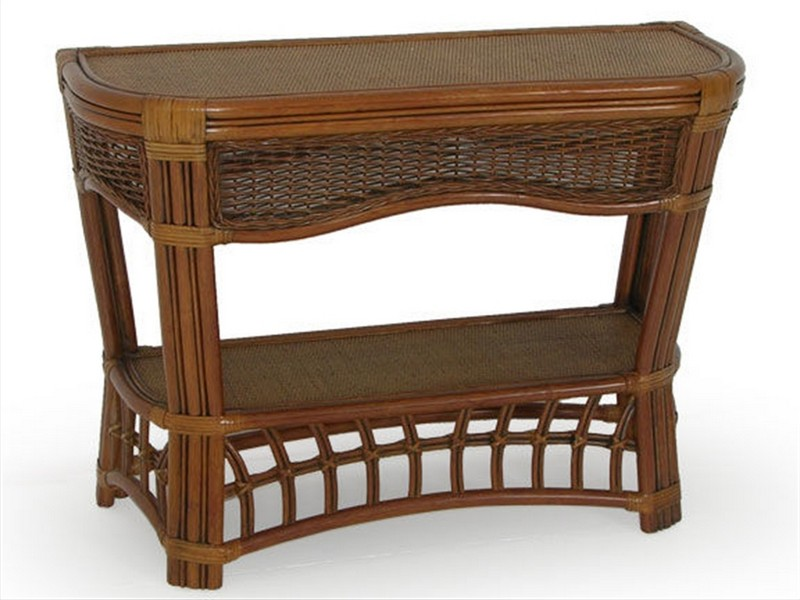 Wicker Console Table Furniture