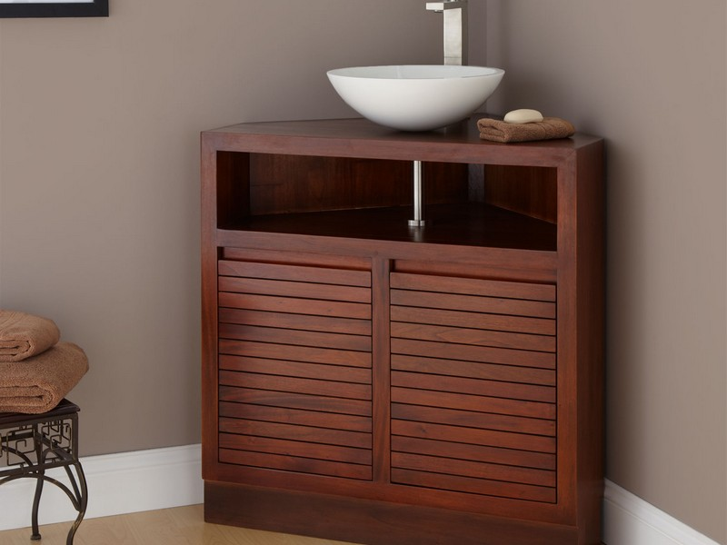 Wicker Corner Cabinet Bathroom