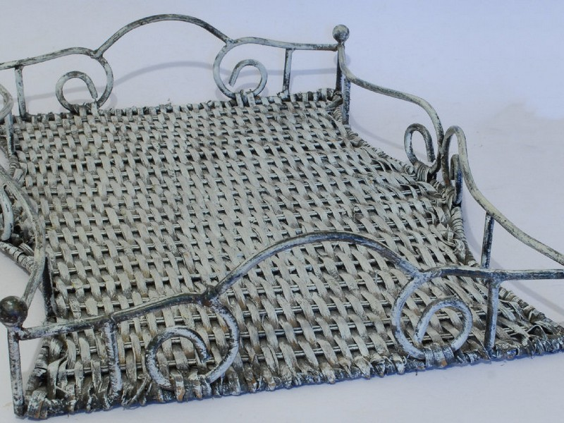 Wicker Serving Tray With Handles