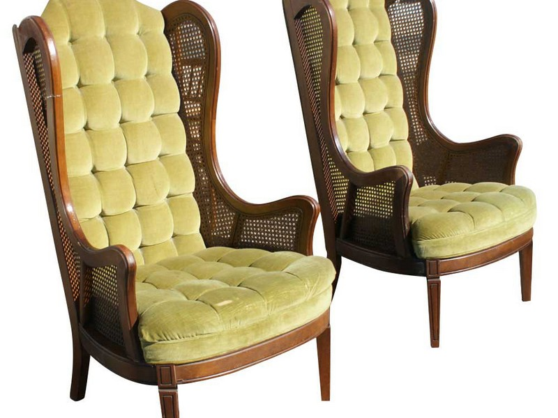 Wicker Wingback Chair