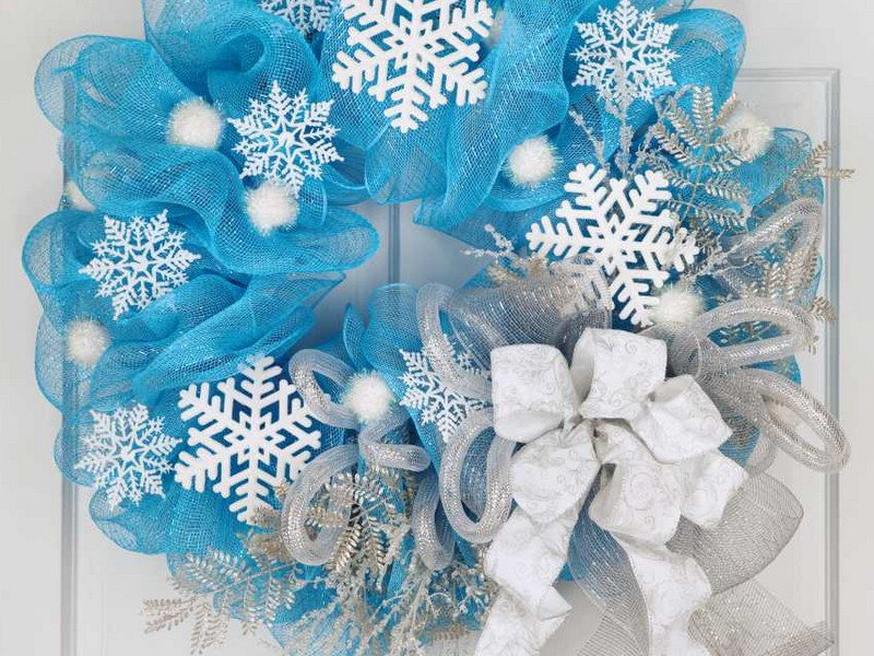 Winter Deco Mesh Wreath Ideas