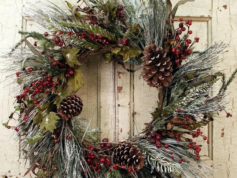 Winter Door Wreaths