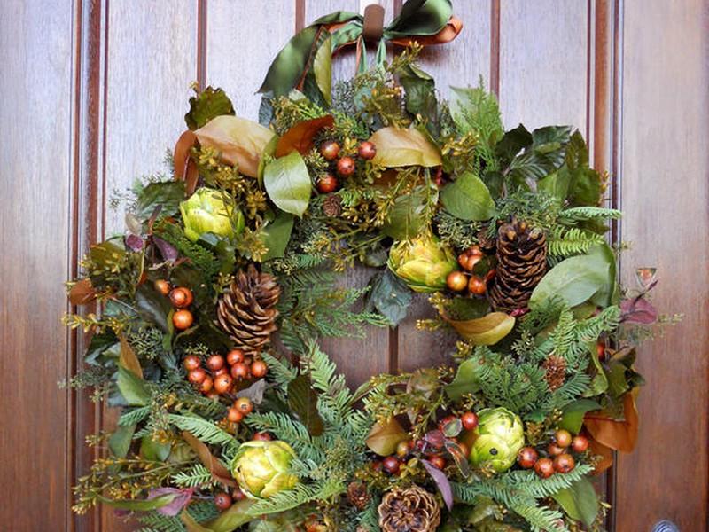 Winter Themed Door Wreaths