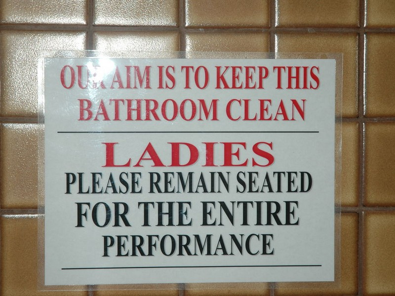 Womens Bathroom Etiquette Signs