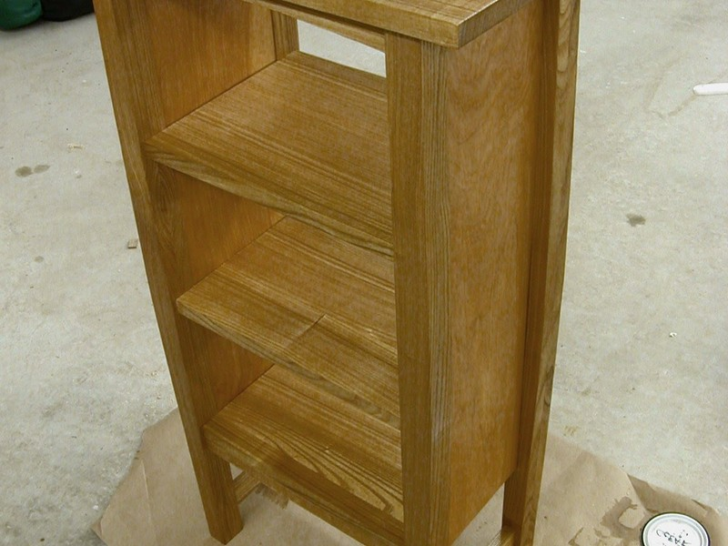 Wood Bathroom Magazine Rack