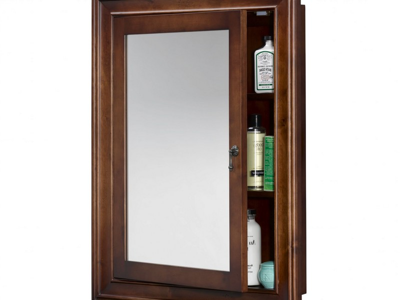 Wood Bathroom Mirror With Shelf
