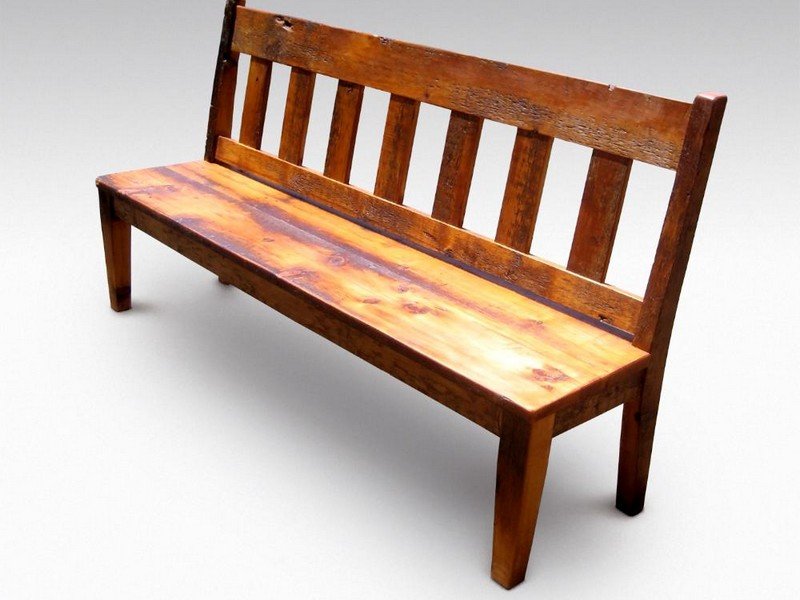 Wood Benches With Backs