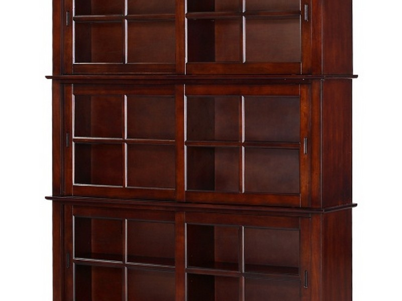 Wood Bookcase With Doors