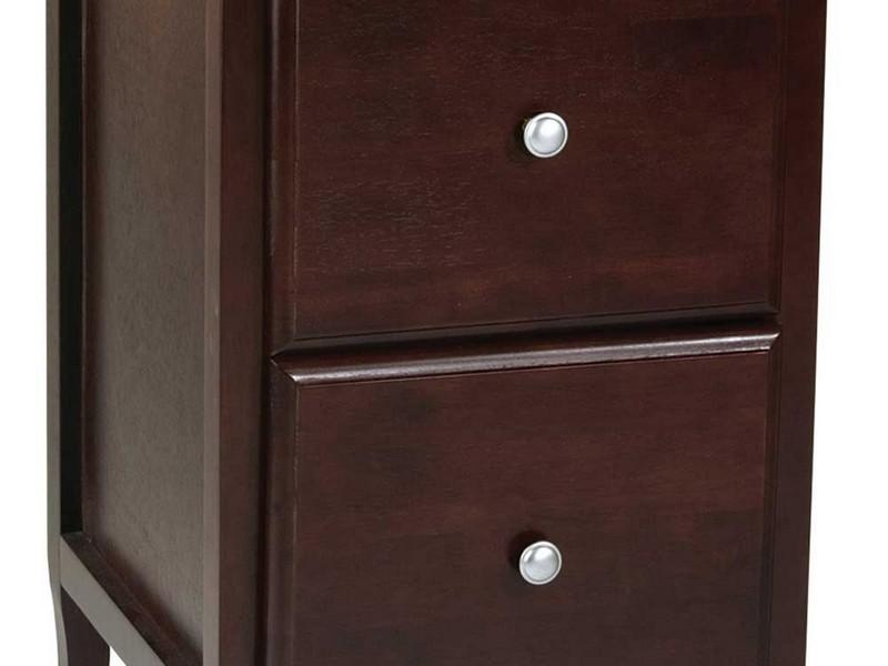 Wood File Cabinet 2 Drawer Vertical
