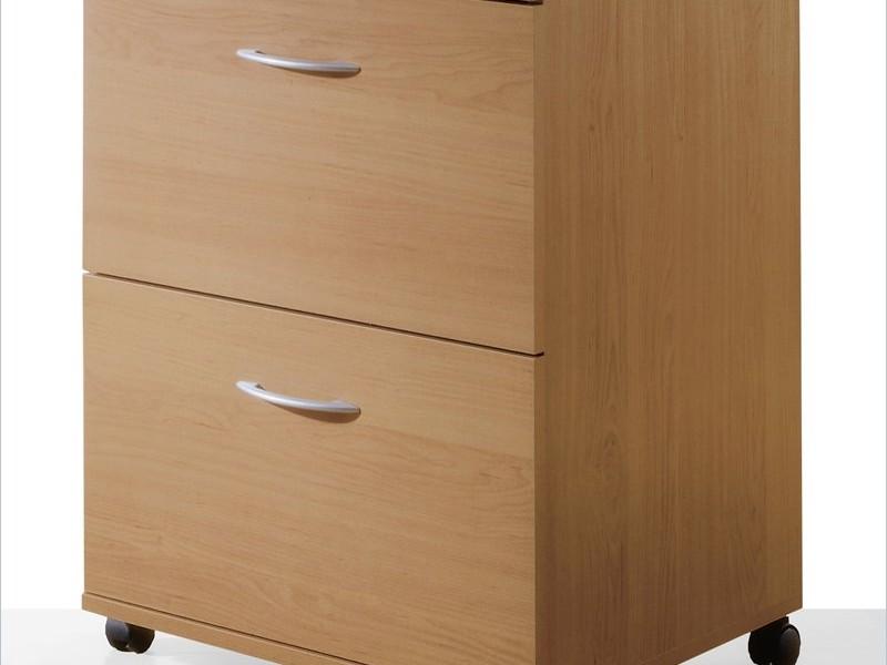 Wood Filing Cabinet 2 Drawer