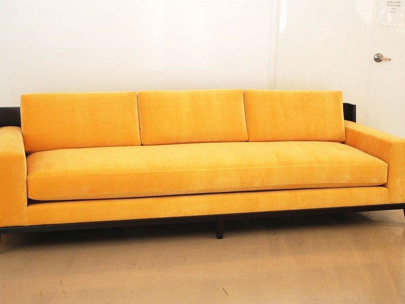 Wood Frame Couch With Cushions