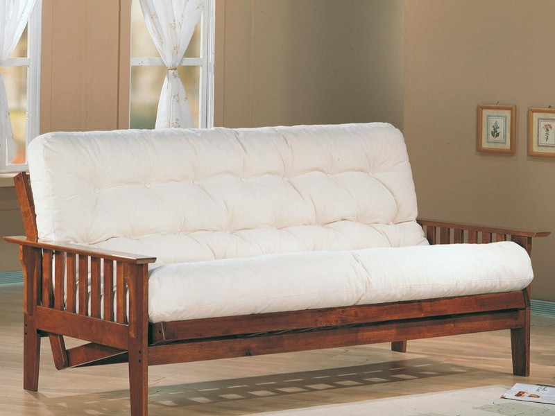 Wood Frame Futon Couch