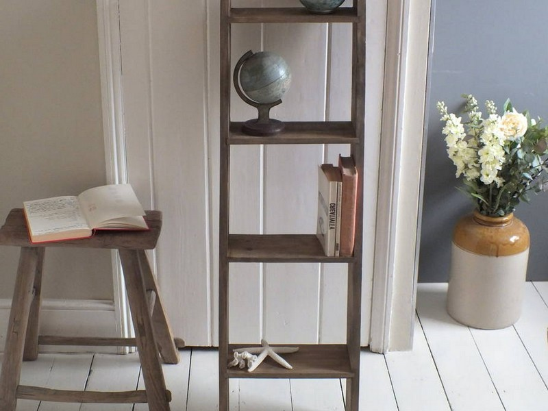 Wood Ladder Shelf