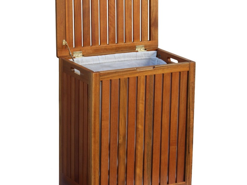 Wood Laundry Hamper