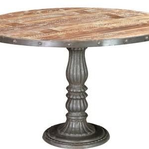 Wood Pedestal Dining Table Base