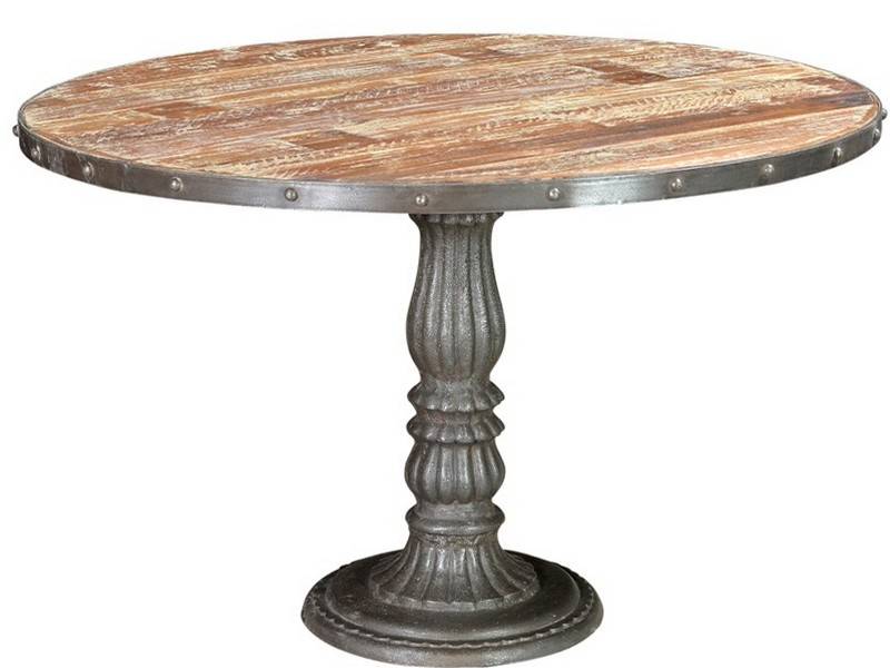Wood Pedestal Dining Table Base