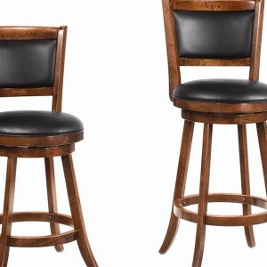 Wood Swivel Bar Stools With Backs
