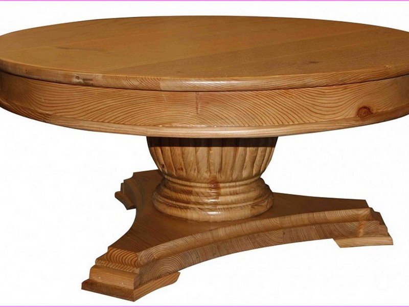 Wood Table Pedestal Base Only