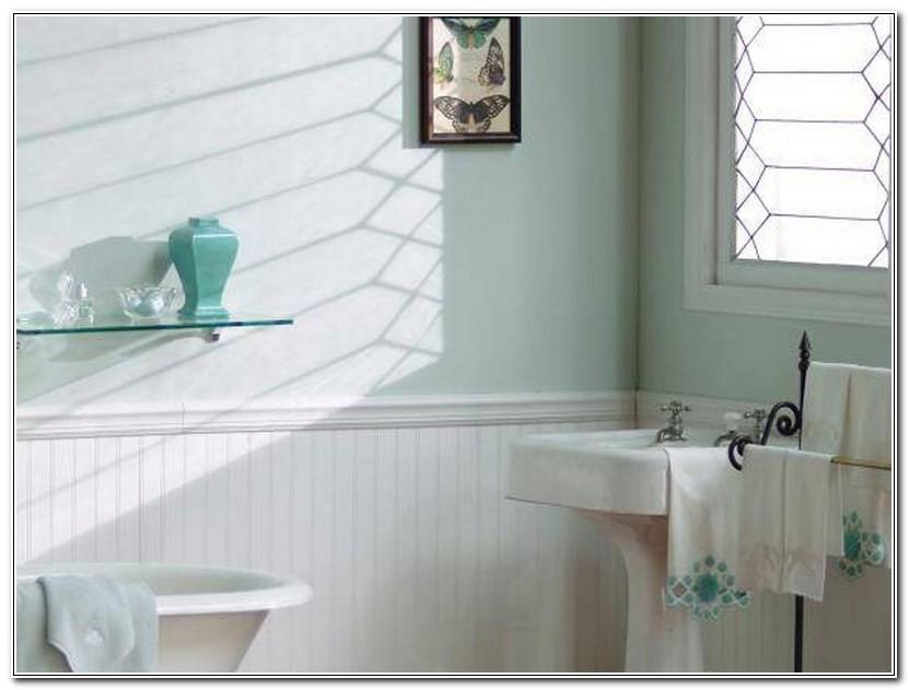 Wood Wainscoting In Bathroom