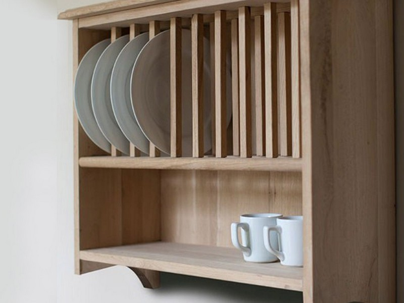 Wood Wall Mounted Dish Rack