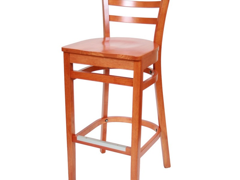 Wooden Bar Chairs With Backs