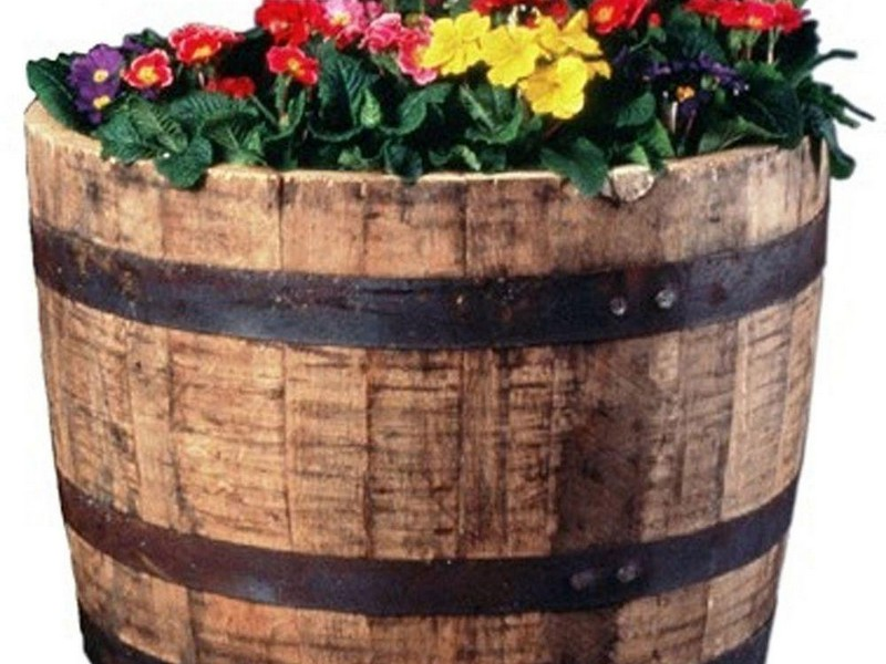 Wooden Barrel Planters At Lowes