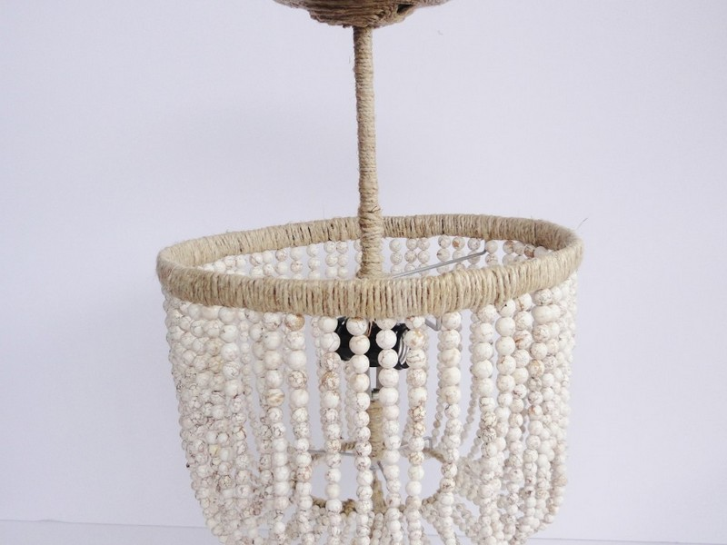 Wooden Bead Chandelier Diy