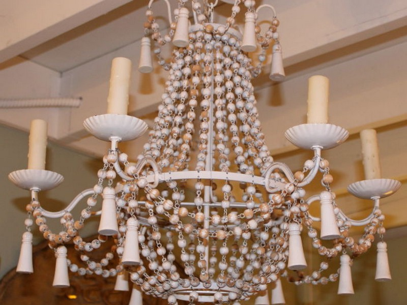Wooden Beaded Chandelier Australia