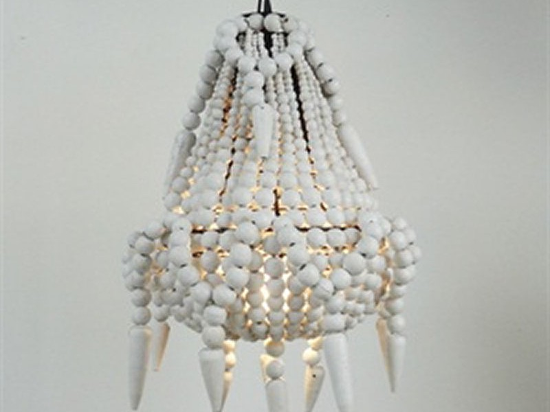 Wooden Beaded Chandelier
