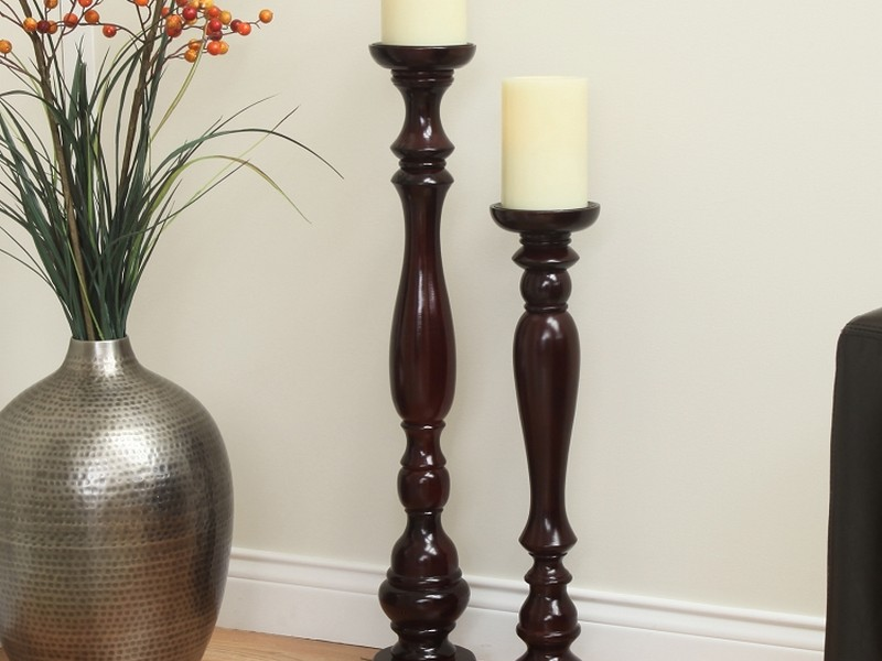 Wooden Floor Candle Stands